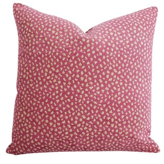 Contemporary Manuel Canovas Safari Velvet in Cyclamen Pillow Cover For Sale