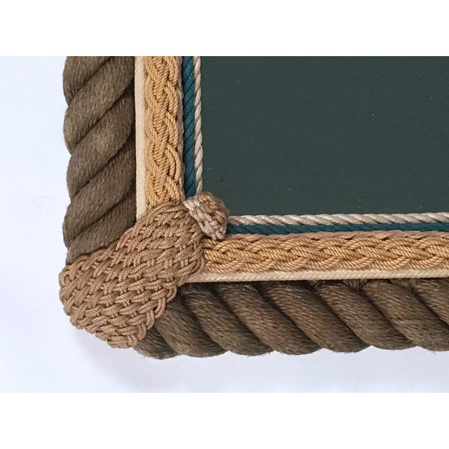 Art Deco Sailor Made Nautical Ropework Mirror For Sale - Image 3 of 12