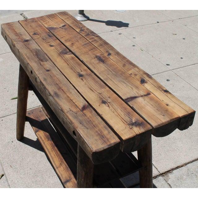 Rustic Bench/Shelf Signed Habitant - Image 1 of 7
