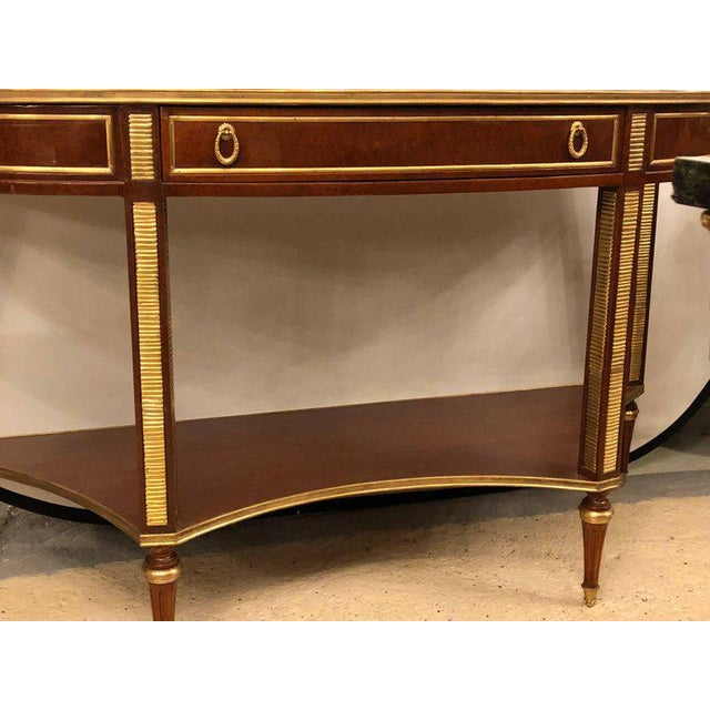 Bronze Demilune Mahogany Bronze Mounted Russian Neoclassical Consoles - a Pair For Sale - Image 7 of 10