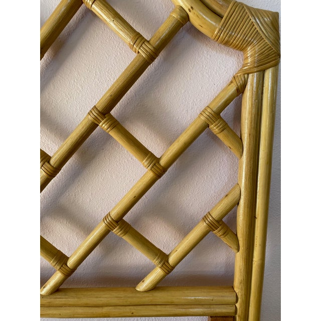 Vintage Chippendale Styled Rattan Twin Headboards - a Pair For Sale In Orlando - Image 6 of 8