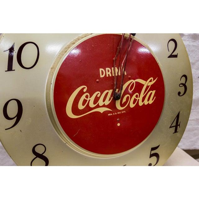 Americana Vintage 'Drink Coca-Cola' Clock For Sale - Image 3 of 6