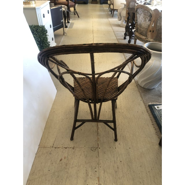 Antique Rustic Adirondack Twig Chair For Sale - Image 9 of 13