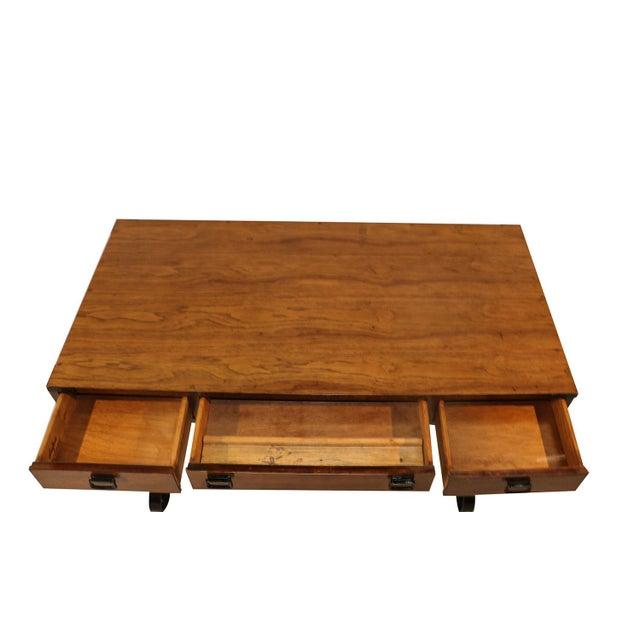 Vintage Fruitwood Iron Desk - Image 2 of 8