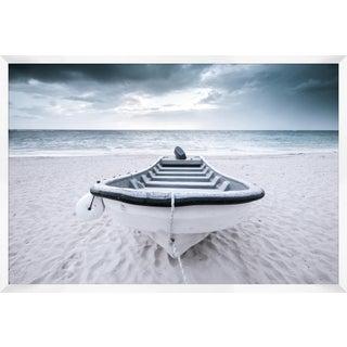 Beach Boat Print, Framed For Sale