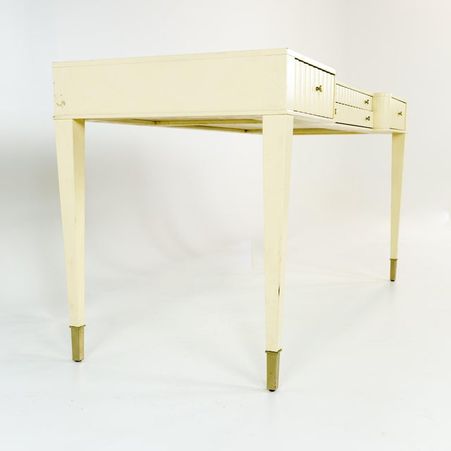 Baker Furniture Company Barbara Barry for Baker Contemporary White Lacquer Desk For Sale - Image 4 of 13