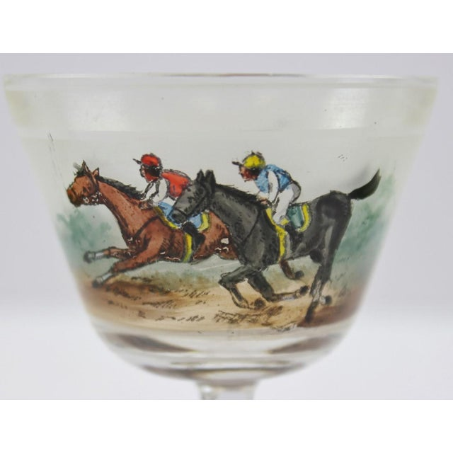 Hand Painted Jockeys Cordial Glasses - Set of 4 For Sale - Image 5 of 5