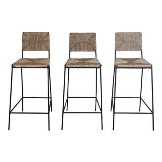 """Campagne"" Counter Height Stools by Design Frères- Set of 3 For Sale"