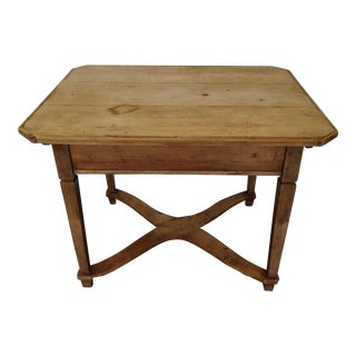 Antique English Scrubbed Pine Table For Sale