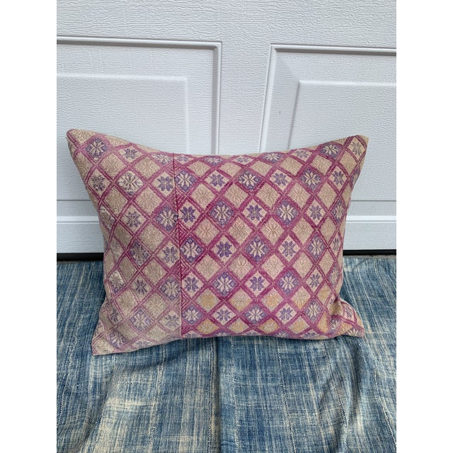 Antique Tribal Wedding Quilt Pillow For Sale - Image 9 of 9