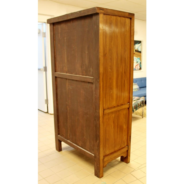 1990s Asian Shantong Style Wood Cabinet Armoire Wardrobe Dresser, 1990s For Sale - Image 5 of 13