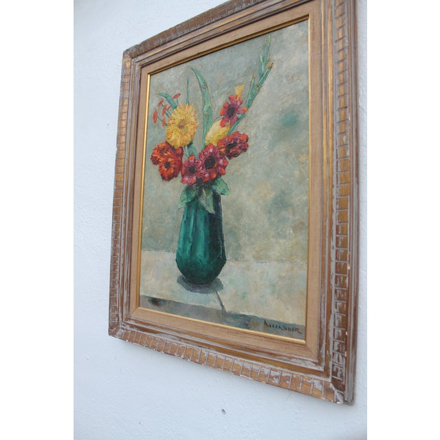 Alexander Vintage Still Life of Flowers Painting For Sale - Image 4 of 9