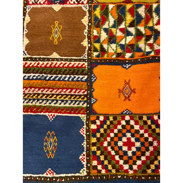 """Textile Berber Handwoven Patchwork Rug-2'2'x8'8"""" For Sale - Image 7 of 8"""