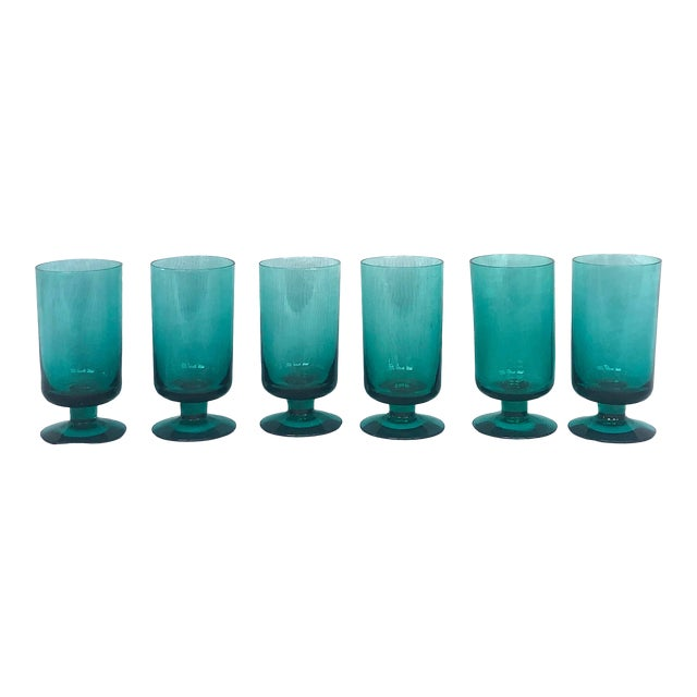 1950s Hand-Blown Swedish Juice Glasses- Set of 6 For Sale