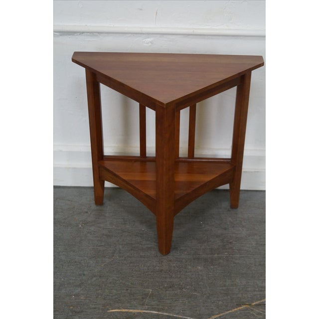 Ethan allen new impressions solid cherry triangle corner table ethan allen new impressions solid cherry triangle corner table image 2 of 10 watchthetrailerfo