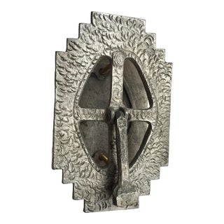 Art Deco Pot Metal Door Knocker and Speakeasy For Sale