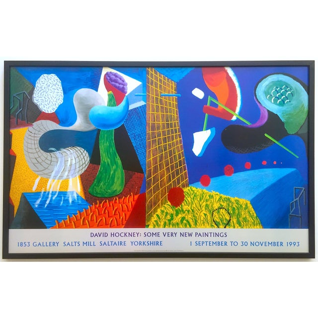 """David Hockney Rare Vintage 1993 """" the Other Side """" Lithograph Print Framed Collector's Pop Art Exhibition Poster For Sale - Image 13 of 13"""
