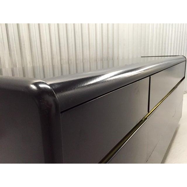 Black Lane Black Lacquer & Brass Detail Dresser For Sale - Image 8 of 10