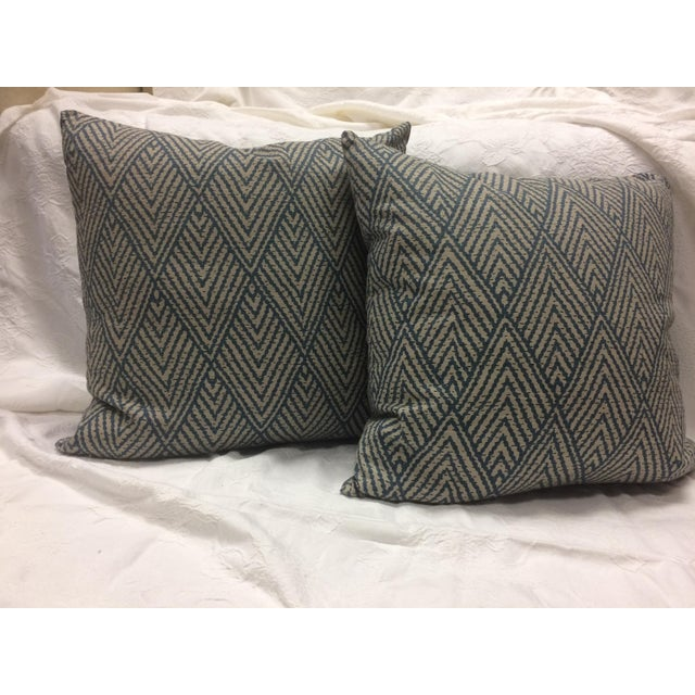 Antique Patterned Throw Pillow - Image 4 of 4