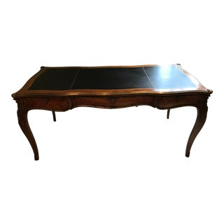 20th Century Louis XV- Style Kingwood Veneer and Brass Mounted Writing Table For Sale