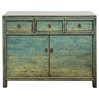 Asian Modern 3 Drawer Chest For Sale