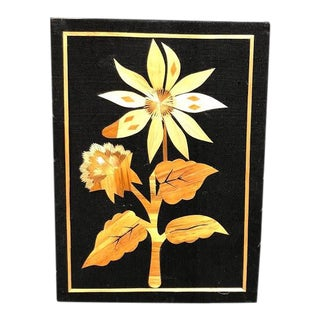 Wood Inlay Flower Art For Sale