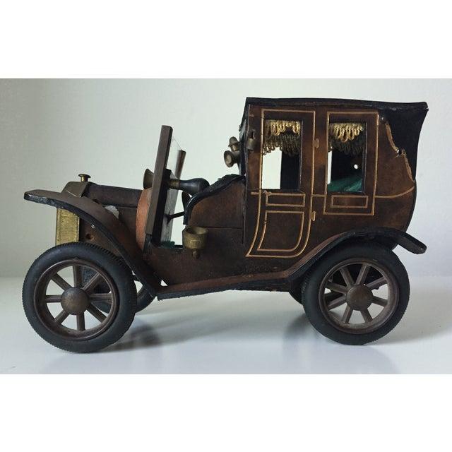 Lancia 1910 Leather Car Model - Image 4 of 5