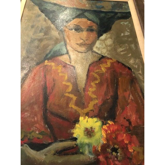Paint Vintage Painting Portrait by Joe Van Cleave For Sale - Image 7 of 12