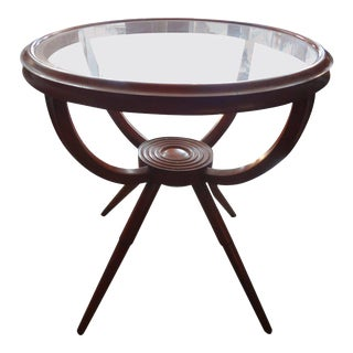 1950s Italian Gio Ponti Inspired Fruitwood Table For Sale
