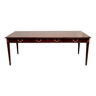 Councill Large Inlaid Banded Mahogany Executive Desk Writing Table