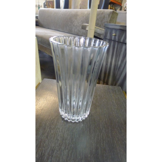 20th Century French Crystal Vase For Sale In Los Angeles - Image 6 of 8