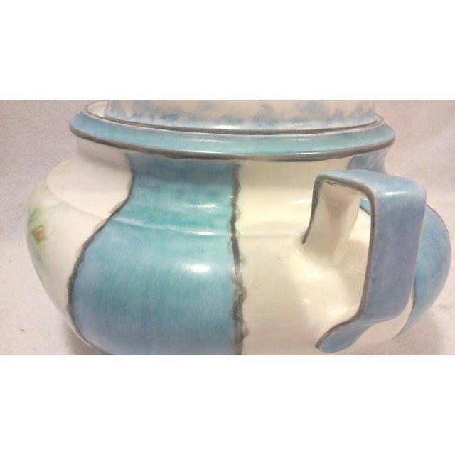 Art Deco Hand Painted Bavarian Porcelain Soup Tureen For Sale - Image 5 of 10