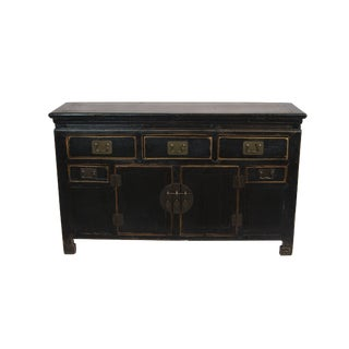Antique Black Tianjin Sideboard For Sale