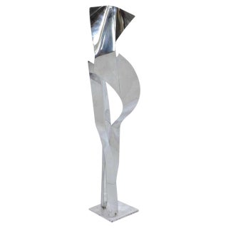 1960's John Chase Lewis Aluminum Sculpture 3.5' Tall For Sale