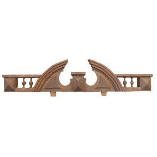 Vintage French Wood Pediment For Sale