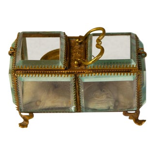 Antique French Sectional Vitrine Casket Box For Sale