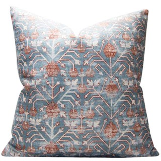 Contemporary Rubia Zak and Fox Khotan Tribal Designer Pillow For Sale