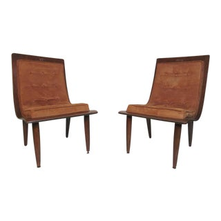 Midcentury Bentwood Slipper Chairs - a Pair For Sale