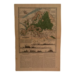"Antique Geography Map ""Europe"" Sheldon & Company 1867 For Sale"