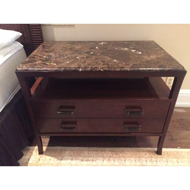 Baker Marble Top Chests - A Pair - Image 2 of 5