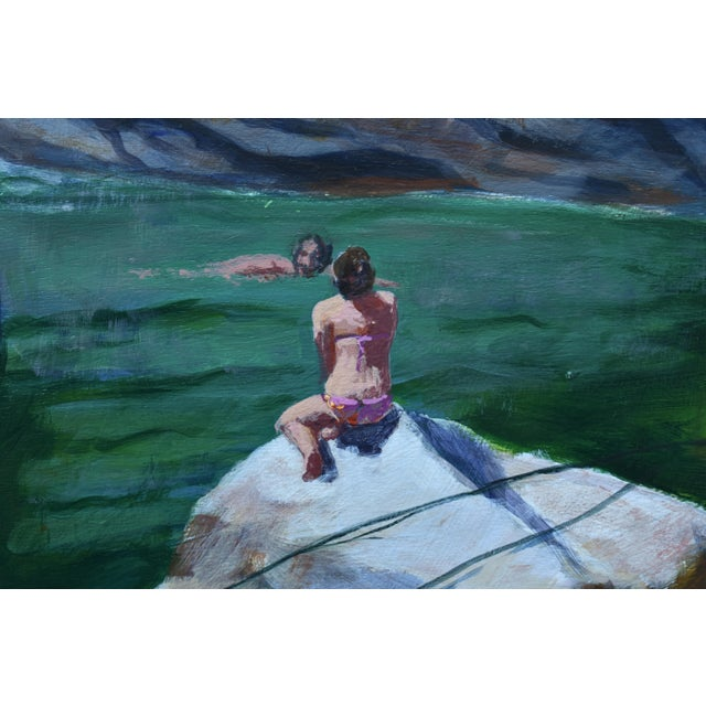 Stephen Remick Upper Falls Swimming Hole in Vermont Contemporary Painting by Stephen Remick For Sale - Image 4 of 12