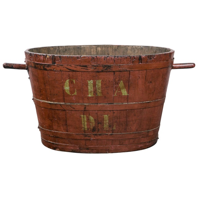 French Grape Harvesting Bucket, Circa 1900 For Sale