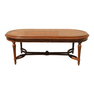 Antique Carved Oval Coffee Table For Sale
