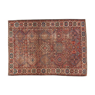 "Vintage Persian Baktiari Rug - 4'8"" X 6'3"" For Sale"