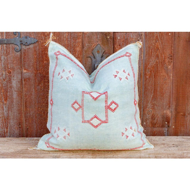 This gorgeous pillow is entirely hand-woven from silk that comes from a Sabra cactus plant. Every pillow is beautifully...