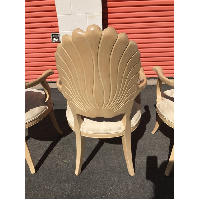 Grotto Italian Carved Wood Seashell Shell Back Dining Chair For Sale - Image 11 of 12