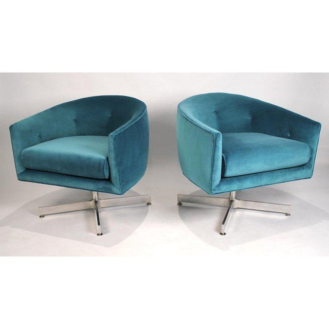 Contemporary Milo Baughman Tilt and Swivel Lounge Chairs for Thayer Coggin For Sale - Image 3 of 11