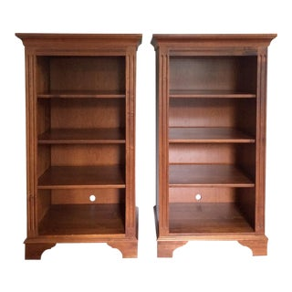 Ethan Allen Tall Wood Bookcases - a Pair