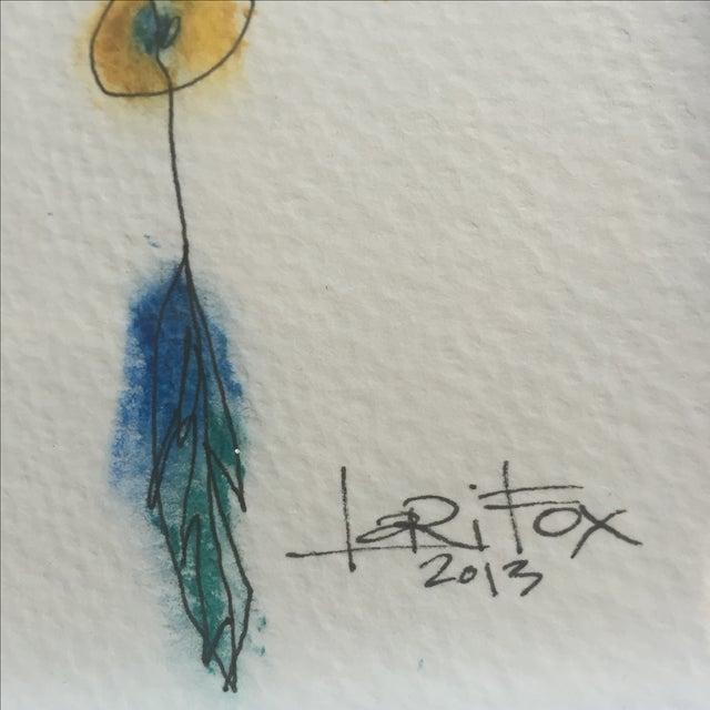 "Original ""Totem"" Oil Pastel - Image 4 of 6"