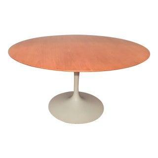 """Eero Saarinen Knoll 54"""" Oak Tulip Table Mid Century Modern For Sale"""